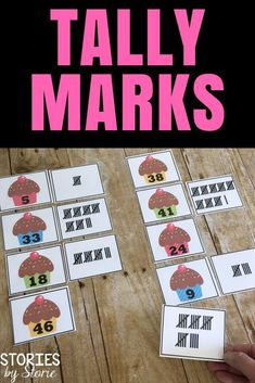 Students can practice tally marks in a fun way with these cards. You can set it up as a matching activity or turn the cards upside down for a memory matching game.