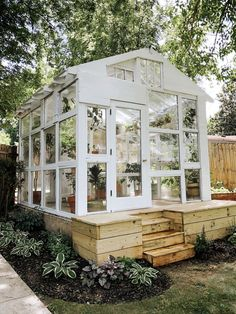Modern Home Decor We Used Scrap Wood to Build a Greenhouse in Our Backyard.Modern Home Decor We Used Scrap Wood to Build a Greenhouse in Our Backyard Backyard Greenhouse, Greenhouse Plans, Window Greenhouse, Nashville, Dream Garden, Home And Garden, Garden Beds, Outdoor Spaces, Outdoor Living