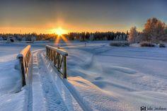 sunset winter finland