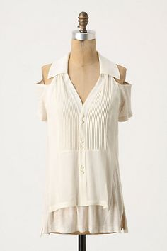 bamboo-cashmere with open-shoulders.  $128.00