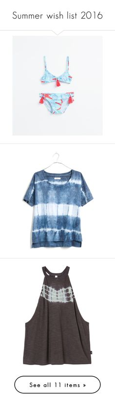 """""""Summer wish list 2016"""" by thepreppybohogirl ❤ liked on Polyvore featuring turquoise, tops, t-shirts, shirts, navy shibori, tye dye shirts, tie-dye shirts, tiedye t shirts, navy blue t shirt and tie dye t shirts"""