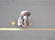 """Francis Alÿs - photo from """"Painting - Retoque"""" 2008"""