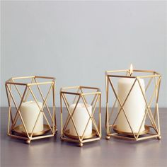 Gold Geometric Wrought Candle Holder Gold Geometric Wrought Candle Holder,the new home Gold Geometric Wrought Iron Candlestick Creative Candle Holder Related posts:Holographic outfits: back to the FUTURE - ADORENESS - antiqueGifts Set/Glass Teapot Tea. Home Decor Items, Home Decor Accessories, Decorative Accessories, Luxury Candles, Diy Candles, Making Candles, Large Candles, Beeswax Candles, Geometric Candle Holder