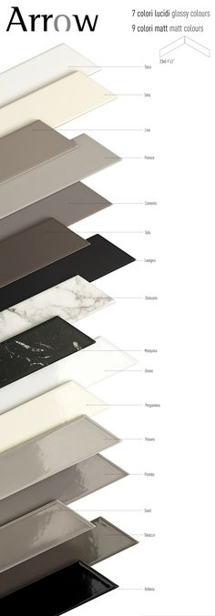 Tonalite collezione Arrow Silk 23x5 in 7 colori lucidi e Arrow Satin 23x5 in 9 colori matt. Posa a lisca di pesce. Chevron, tiles, piastrelle, ceramiche, ceramica, walltiles, floortiles, rivestimento, pavimento zig zag, home, casa, homedesign, homedecor, interiordesign, arredamento, architettura, archiproducts, architecture, architetto, ceramicsofitaly, madeinitaly, madeinitalywithpassion, italianstyle, italiantiles, bathroom, kitchen, bagno, cucina, azulejos, carreaux