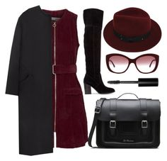 """""""Kerrianne"""" by goingdigi ❤ liked on Polyvore featuring Topshop, Dr. Martens, Sans Souci, Burberry, Non and Bobbi Brown Cosmetics"""