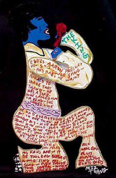 Elvis folk/outsider art from VisionaryArt.com