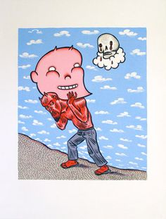 """conrad botes, conrad botes prints, south african print makers, south african  fine art. """"Pink Burden"""" Cultural Studies, Limited Edition Prints, South Africa, Digital Prints, Identity, Snoopy, African, Fine Art, Comics"""