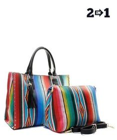 Black Fashion Faux Leather Serape 2 in 1 Handbag! fc3820e960f75