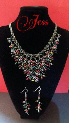 Bead Jewellery, Boho Jewelry, Jewelry Sets, Beaded Jewelry, Beaded Necklace, Jewelry Making, Handmade Beads, Handmade Jewelry, Beaded Bracelets Tutorial