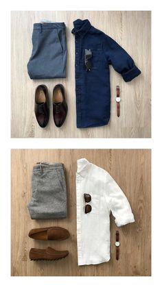 How To Wear Khaki Chinos For Men Outfit Ideas) - homeexalt Mens Casual Dress Outfits, Formal Men Outfit, Stylish Mens Outfits, Stylish Clothes For Men, Men Dress, Summer Outfits, Business Casual Attire For Men, Casual Wear For Men, Minimalist Wardrobe Men