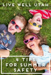 4 tips for summer safety graphic
