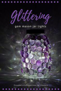 Show details for Glittering Gem Mason Jars Lights
