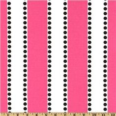Lulu print pink/black, premier prints, how cute would this be for a girls room?
