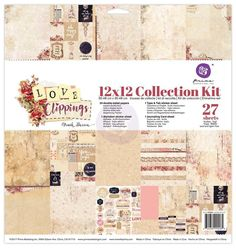 Prima Marketing Love Clippings 12x12 Paper Collection Kit