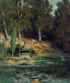 Часовня в лесу 1883 50х59. Иван Иванович Шишкин