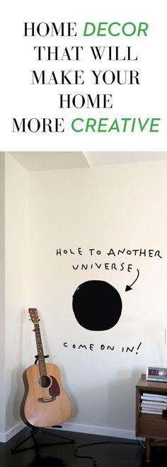 Black Hole home decor wall decal