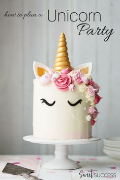 Throw a Magical Unicorn Party for adults. (unicorn birthday cakes for adults)