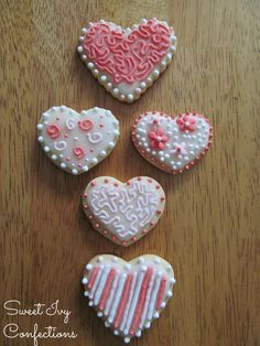 Valentine Cookies...@Sweet Ivy Confections