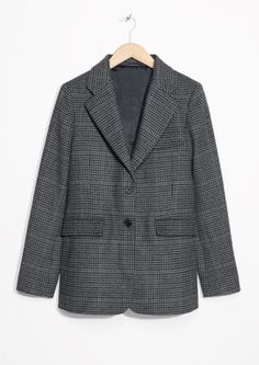 & Other Stories | Wool Blend Checked Blazer