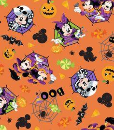 Halloween Stoff, Halloween Fabric, Halloween Patterns, Halloween Prints, Disney Halloween, Mickey Halloween Party, Spooky Halloween, Whimsical Halloween, Halloween Birthday