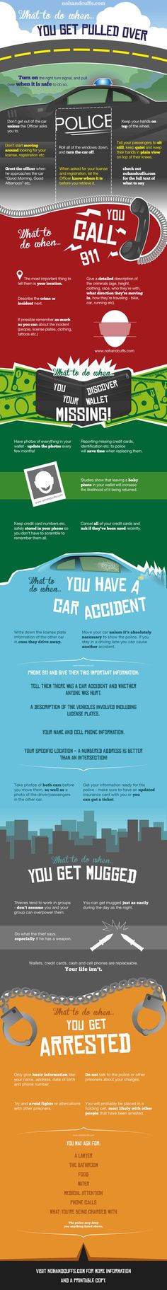 Put This Infographic in Your Wallet to Know What to Do When Bad Things Happen.