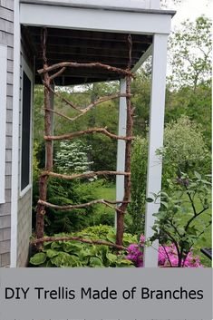 Take a look at these DIY Garden Trellis Ideas and Find one That's Needs in Your Garden! - Gravetics - Take a look at these DIY Garden Trellis Ideas and Find one That's Needs in Your Garden! Garden Cottage, Diy Garden, Garden Projects, Garden Landscaping, Garden Ideas, Garden Bar, Herbs Garden, Garden Pond, Garden Gates