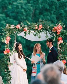Chuppahs, which are canopies traditionally reserved for Jewish weddings, are making statements at ceremonies of all types, from nondenominational to secular. After all, a chuppah symbolizes the home a couple will build together during their marriage, and that's a sentiment anyone can get behind. Here, a roundup of some of our favorite chuppahs from real weddings.