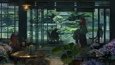 This HD wallpaper is about rain, frog, anime girls, fantasy art, Original wallpaper dimensions is file size is Rwby, Arte Dc Comics, Natsume Yuujinchou, Image Painting, Animation, All Nature, Anime Artwork, Anime Scenery, Japanese Art
