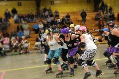 Bounty breaking through the pack at our game last weekend.  Huge thanks to #PhotosByEaster for all the great photos of the game!  #AroostookRollerDerby #CentralMaineRollerDerby #RollerDerby by aroostookrollerderby