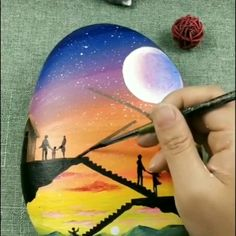 Stone art paint draw artvideo beautiful amazing draw the magic of diy projects Pebble Painting, Pebble Art, Stone Painting, Arte 8 Bits, Art Rupestre, Art Pierre, Art Sur Toile, Arte Sketchbook, Art Diy