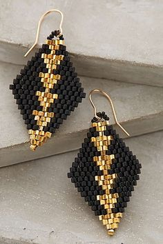 Beaded Diamante Drops ...appears to be brick stitch diamonds w size 11 hex beads