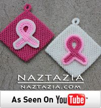 Free Pattern - Crochet Awareness Ribbon Potholders for Breast Cancer and Other Causes by Naztazia