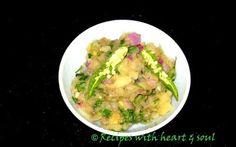 Assamese Recipes: Aloo, Bengena Pura Pitika ( Fire grilled potato Brinjal mashed in Assamese style)