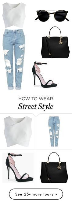 """Street"" by natcloset on Polyvore featuring Topshop, Chicwish, Boohoo and MICHAEL Michael Kors"