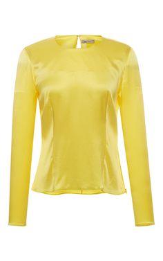 Delilah Long Sleeve Top by ALICE ARCHER for Preorder on Moda Operandi
