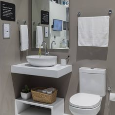 Home Room Design, Bathroom Interior Design, Interior Decorating, House Design, Best Bathroom Vanities, Small Bathroom, Contemporary Bathroom Inspiration, Striped Hallway, Ikea Sinks