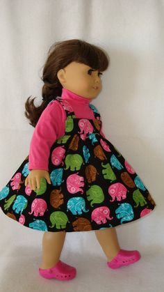 American Girl doll Clothes/ Jumper and turtleneck by auntiejans, $11.75