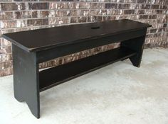 Bench with Storage Shelf for Entryway Coffee by baconsquarefarm, $150.00