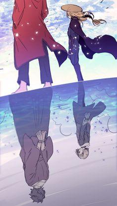 Sakamoto Tatsuma x Mutsu Manga Anime, Manga Art, Sakamoto Tatsuma, Samurai, Gintama Wallpaper, Okikagu, Animes Wallpapers, Anime Love, Anime Couples