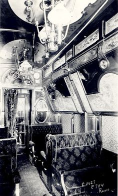 Pullman train cars, the epitome of luxury Palace Cars, Superliners (284 of these), sleeping cars and passenger train cars, 1859-1981