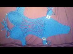maio  de  crochê azul turquesa