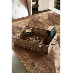 Rustic Rattan Partition Tray - Coming Soon Handmade Furniture, Wood Watch, Rattan, The Hamptons, Tray, Basket, Rustic, Autumn, Winter