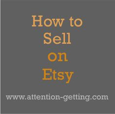 Facts on why some sellers are doing well on Etsy... on my blog today at www.attention-getting.com