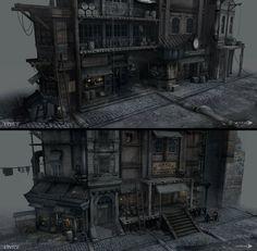 Thief - Street Shops by MatLatArt on deviantART