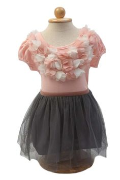 This beautiful skirt is made of sheer grey tulle. It is lined and perfect to match with Beatrice Flower Top in white or pink. Also available in Pink. ($19.90) http://www.missvanda.com/collections/bottoms/products/pompom-princess-skirt-grey?utm_source=Pinterest_medium=self_campaign=pinteresthome