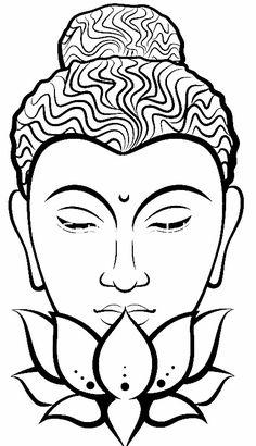 'Buddha (Black&White)' Sticker by Catherine Isla Buddha Drawing, Buddha Painting, Buddha Art, Ganesha Drawing, Outline Drawings, Cool Art Drawings, Art Sketches, Kerala Mural Painting, Madhubani Painting