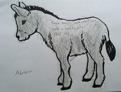 Poesía, adivinanza o trabalenguas sobre el burro de MIJAS Moose Art, Art