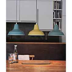 John Lewis Pendant light for the kitchen. Love the 'slate' colour- perfect for above the kitchen table