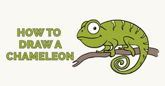 Learn to draw a chameleon. This step-by-step tutorial makes it easy. Kids and beginners alike can now draw a great looking chameleon. Art Drawings Sketches Simple, Cartoon Drawings, Animal Drawings, Easy Drawings, Popular Cartoons, Holiday Activities, Step By Step Drawing, Learn To Draw, Landscape Art