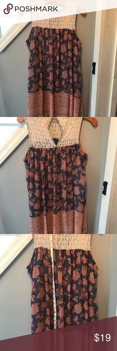 Xhilaration Very Pretty Dress Lace Upper Jr. Large Xhilaration Very Pretty Dress Lace Upper junior large Xhilaration Dresses Midi